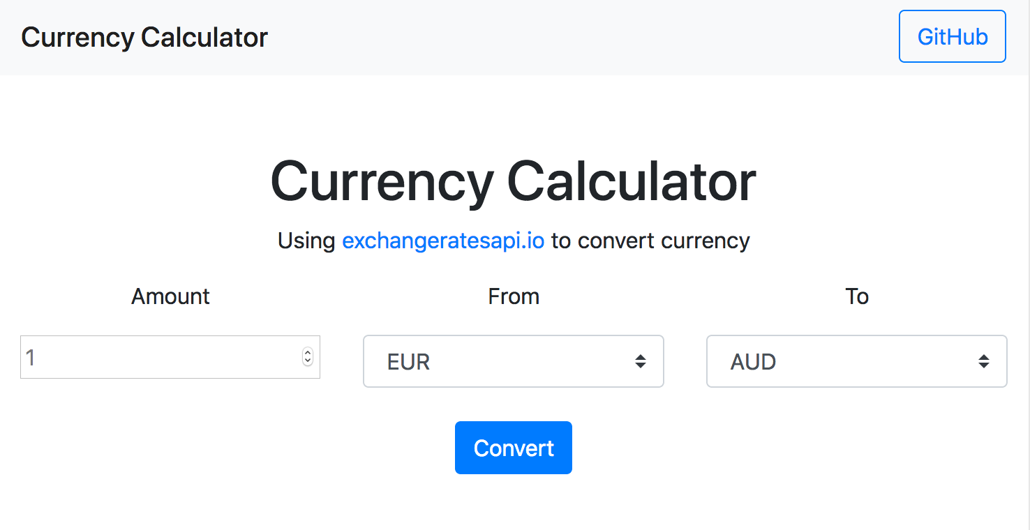 Currency Exchange Rate converter